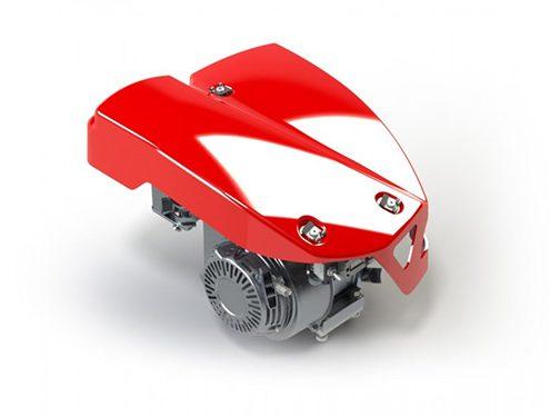 Capot moteur sur Karting