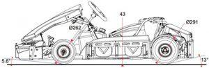 Les dimensions du Kart GT4R