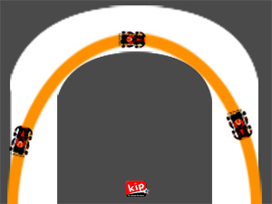 les trajectoires en karting