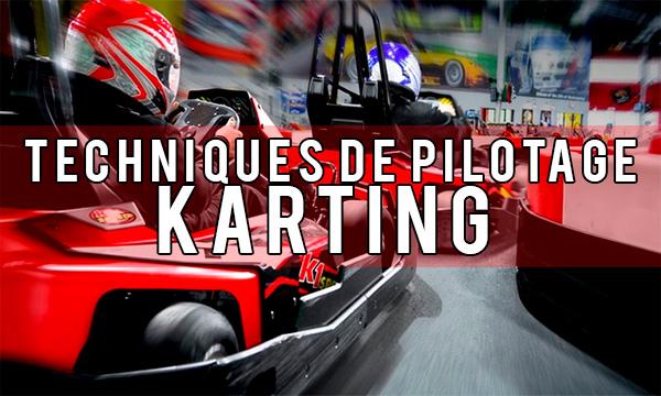 Techniques de pilotage karting