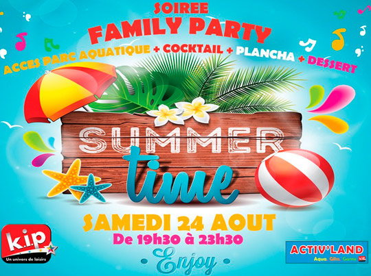 Soirée Family Party Activ' Land