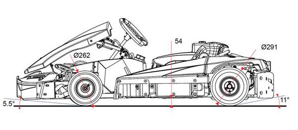 Dimensions des nouveaux kartings Sodi SR5